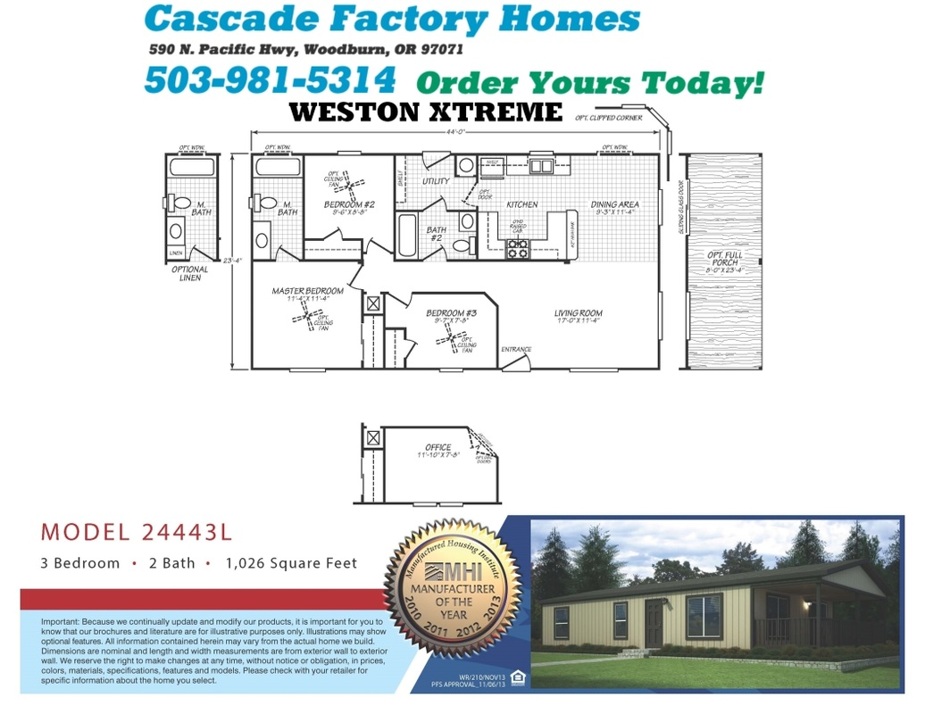 24443L Weston Xtreme Floor Plan