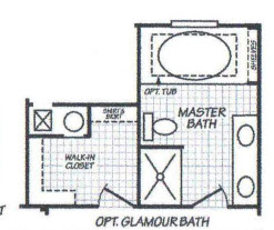 Manufactured Home Glamour Bath
