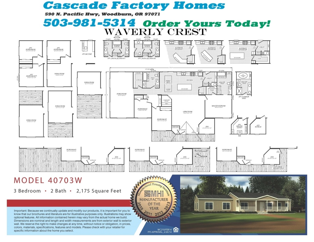 40703w Waverly Crest Floor Plan