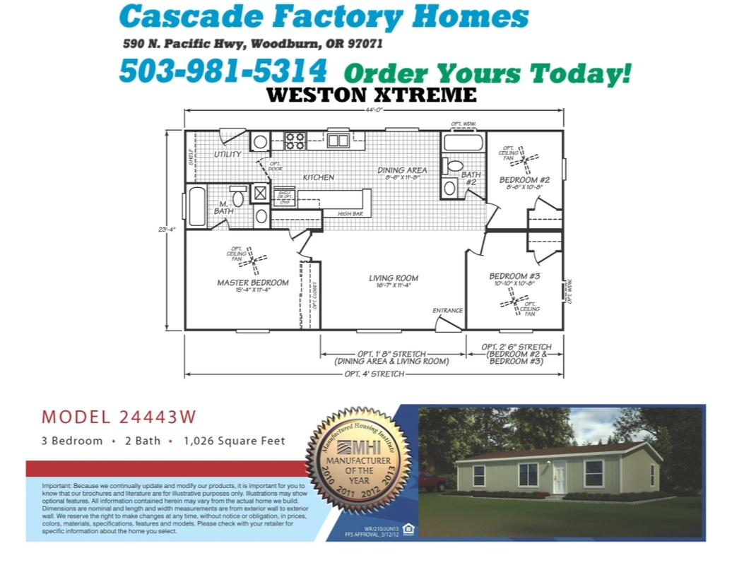 24443W Weston Xtreme Floor Plan