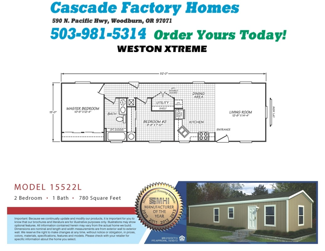 15522L Weston Xtreme Floor Plan
