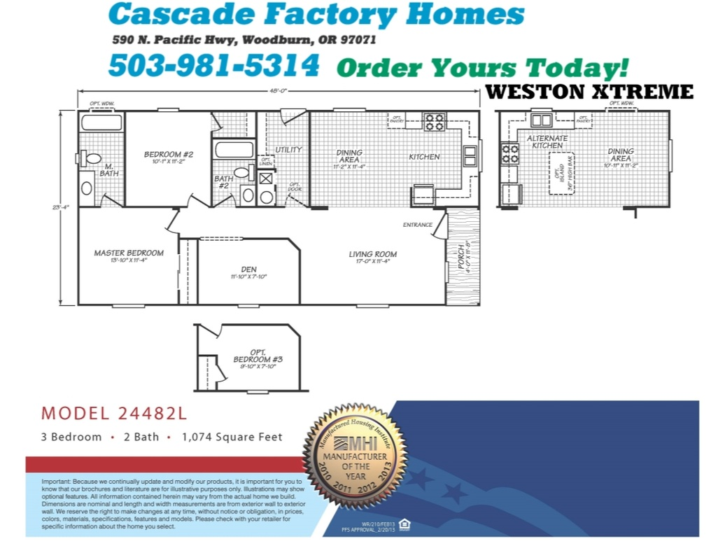 24482L Weston Xtreme Floor Plan