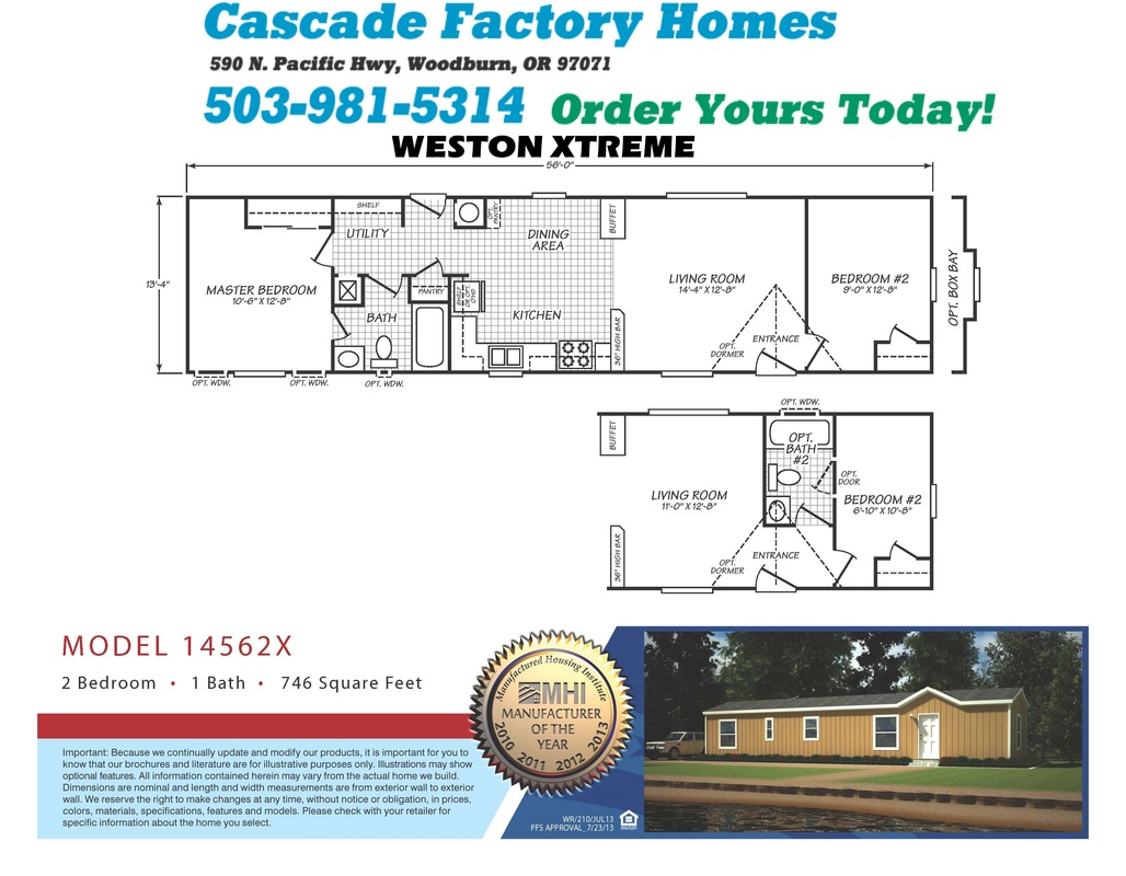 14562X Weston Xtreme Floor Plan
