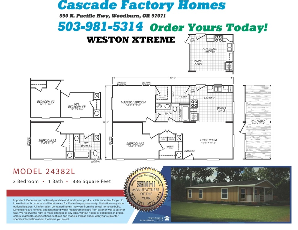 24382l weston xtreme floor plan for Home design xtreme
