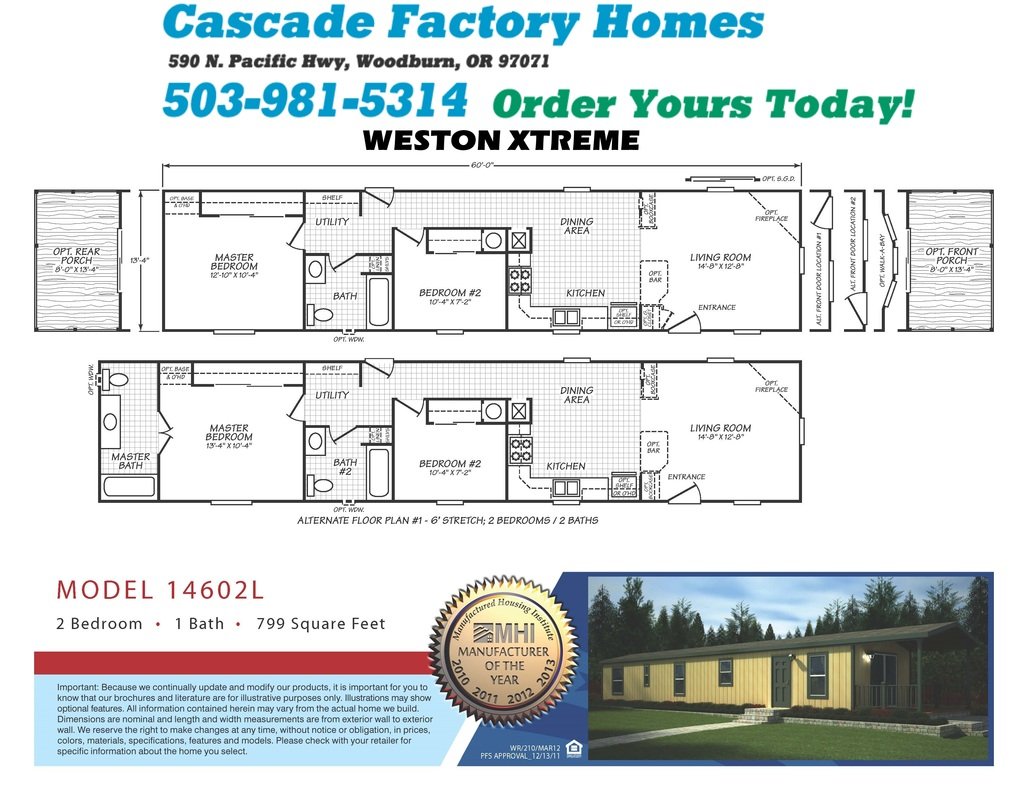 14602L Weston Xtreme Floor Plan