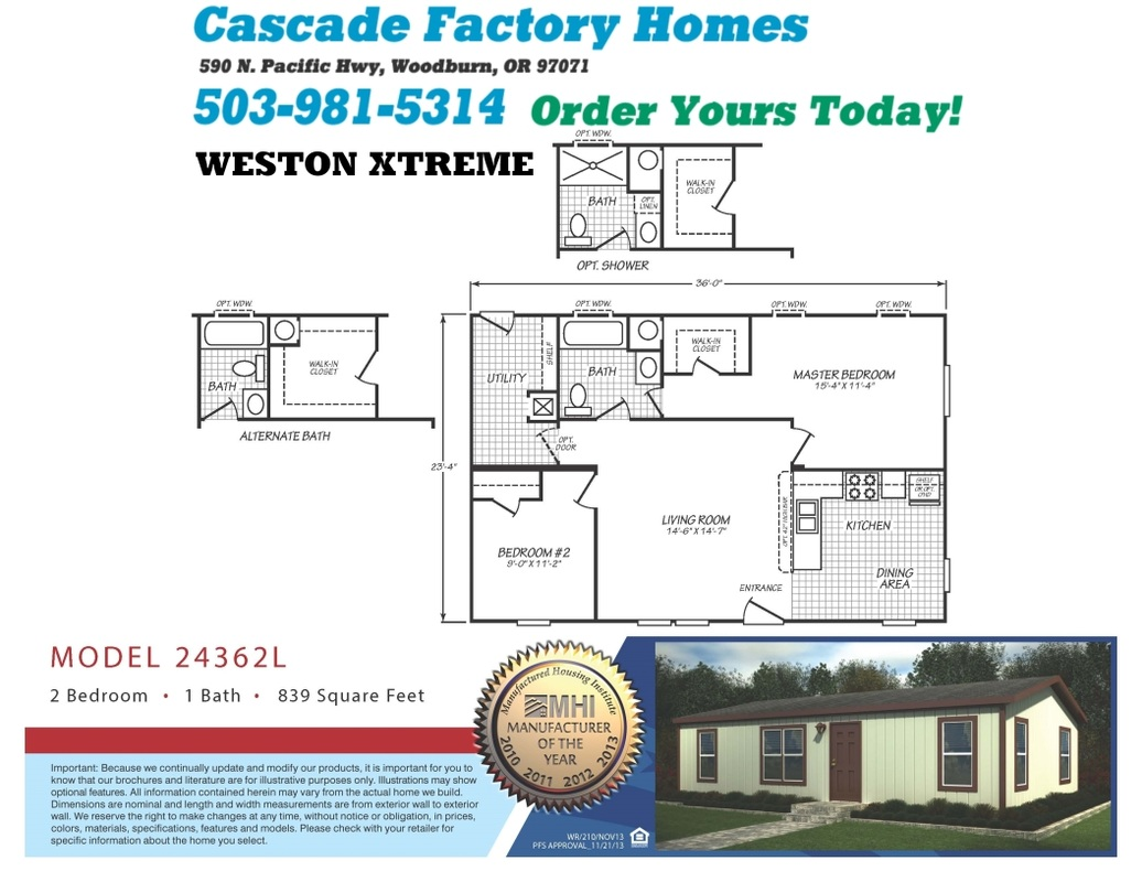 24362L Weston Xtreme Floor Plan