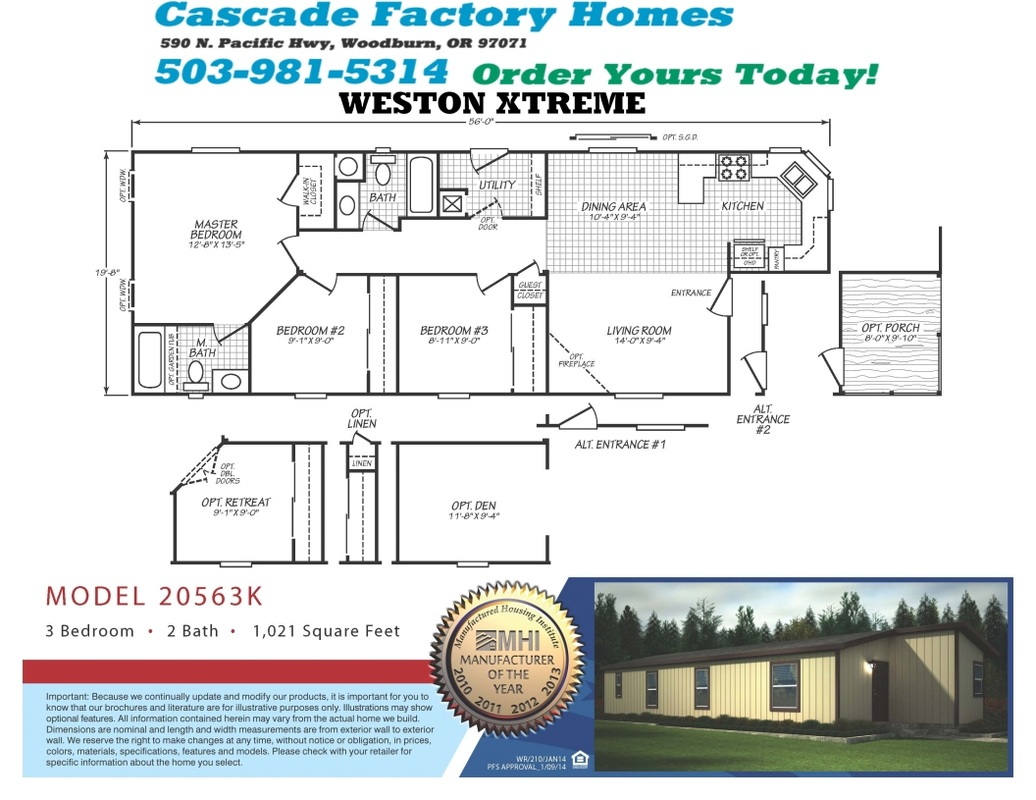 20563K Weston Xtreme Floor Plan