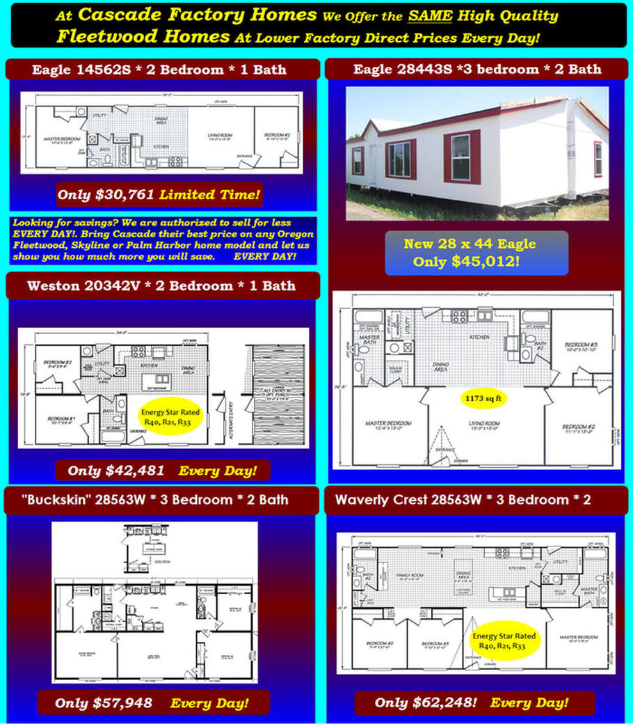 Mobile Homes, Manufactured Homes & Park Models For Sale Oregon ... on